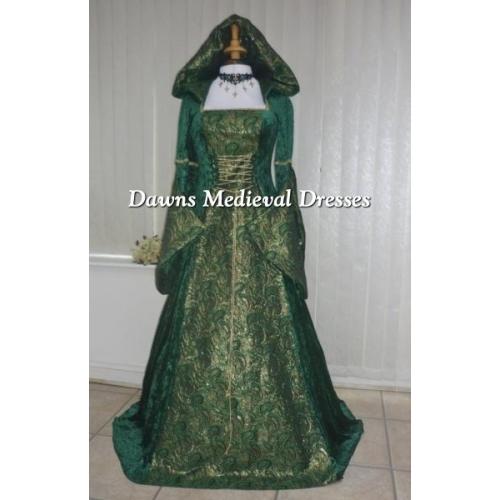 Hooded Medieval Dresse...