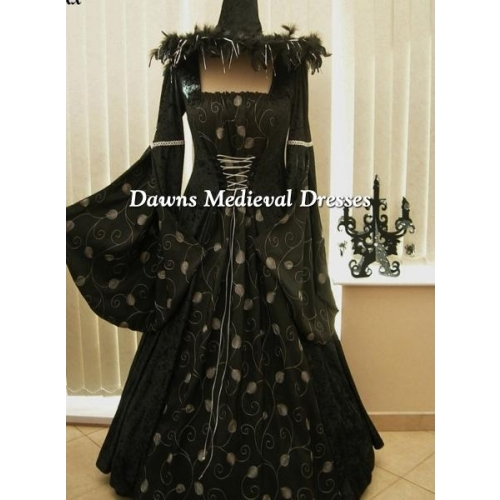 Halloween Witch Costume Ball Gown