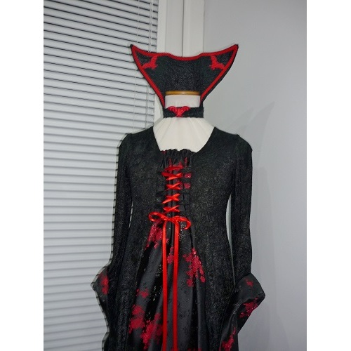 Girls Medieval Goth Halloween Dress Costume Age 6 7 8