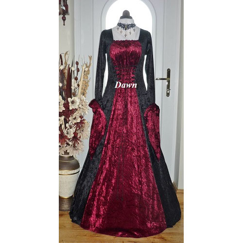 Gothic Medieval Pagan Dress 10 - 12  RM
