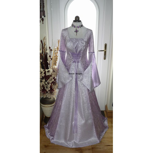 Medieval Pagan Lilac Handfasting Wedding Dress 12 - 14 RM
