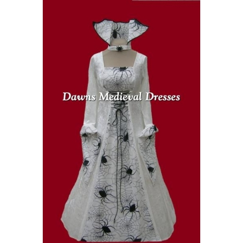 Halloween Bride of Dracula Wedding Dress  Spider Costume